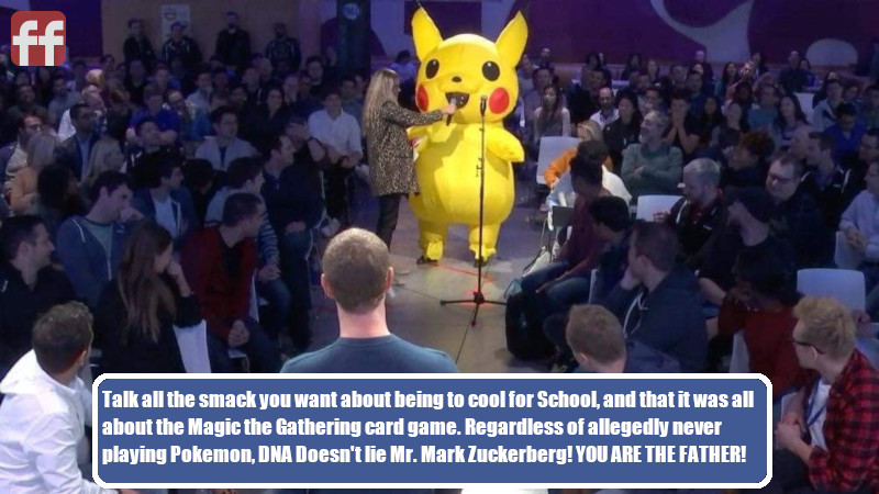 Pikachu Speaks Out Against Zuckerberg